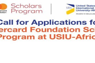 Mastercard Foundation Scholars Program at United States International University – Africa 2021/2022 (Fully-funded): (Deadline 27 November 2020)