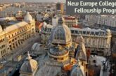 New Europe College (NEC) Fellowship Program 2021-2022: (Deadline	15 January 2021)