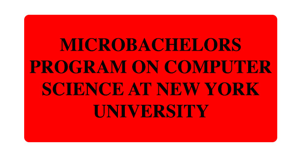 MicroBachelors Program on Computer Science at New York University: (Deadline Ongoing)
