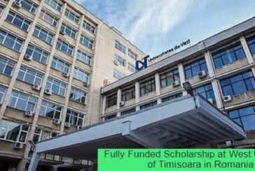 Fully Funded Scholarship at West University of Timisoara in Romania: (Deadline 16 March 2021)