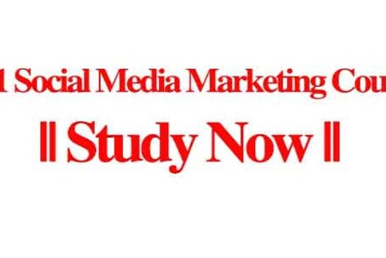 2021 Social Media Marketing Courses    Study Now: (Deadline Ongoing)
