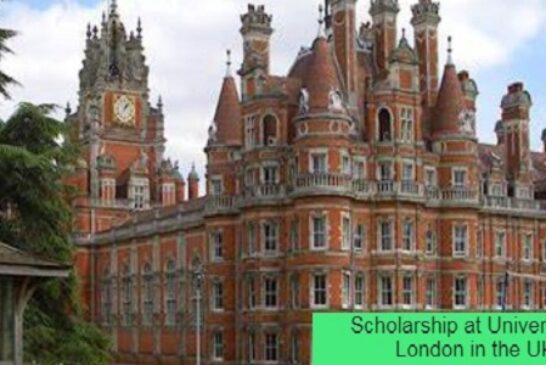 Scholarship at University of London in the UK: (Deadline Ongoing)