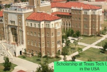 Scholarship at Texas Tech University in the USA: (Deadline 1 June 2021)