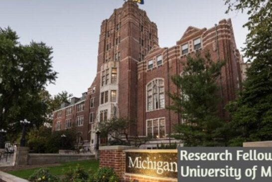 Research Fellowship at University of Michigan: (Deadline 1 May 2021)