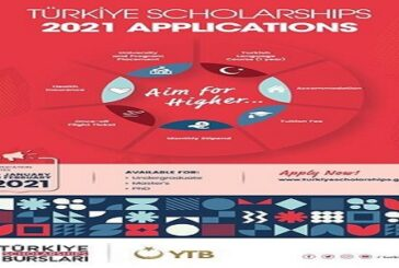 Türkiye Scholarships 2021 for Undergraduate, Masters & Ph.D. Studies in Turkey (Fully Funded): (Deadline 20 February 2021)