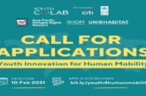 Call for Applications: Youth Innovation for Human Mobility Initiative 2021: (Deadline 10 February 2021)