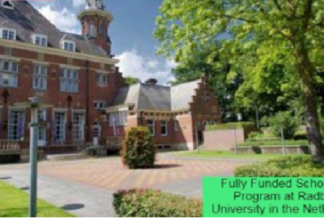 Fully Funded Scholarship in the Netherlands: (Deadline 1 March 2021)