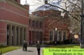 Scholarship at University of Birmingham in the UK: (Deadline 30 June 2021)