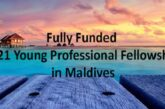2021 Young Professional Fellowship in the Maldives – Fully Funded: (Deadline 20 February 2021)