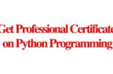 Get Professional Certificate on Python Programming: (Deadline Ongoing)