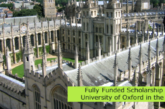 Fully Funded Scholarship at University of Oxford in the UK: (Deadline July-October 2021)