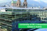 Scholarship at MCI Entrepreneurial School in Austria: (Deadline 15 May 2021)
