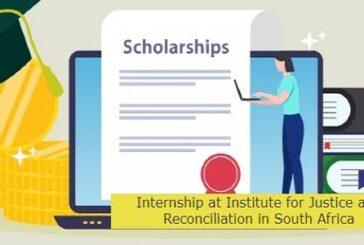 Internship at Institute in South Africa: (Deadline 20 April 2021)