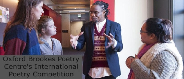 Oxford Brookes Poetry Centre's International Poetry Competition: (Deadline 20 September 2021)