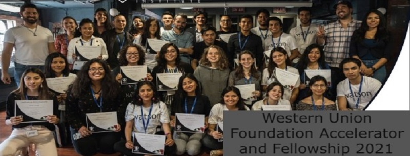 Western Union Foundation Accelerator and Fellowship 2021 (fully-funded): (Deadline 9 July 2021)