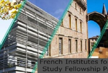 French Institutes for Advanced Study Fellowship Programme: (Deadline 6 July 2021)