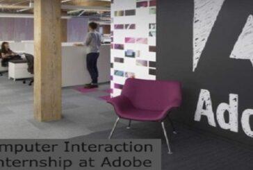 Human Computer Interaction Research Internship at Adobe: (Deadline 31 March 2021)