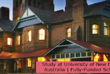 Study at University of New England in Australia   Fully-Funded Scholarship: (Deadline 1 August 2021)