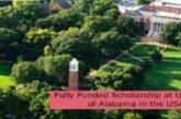 Fully Funded Scholarship at University of Alabama in the USA: (Deadline 1 November2021)