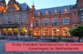 Fully Funded Scholarships at University of Groningen in Netherlands: (Deadline1 December 2021)