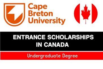 Cape Breton University 2021-2022 Major Entrance Scholarships (Canada) (Deadline: 15 October 2021)