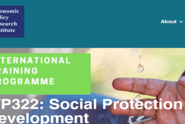 Social Protection for Sustainable Development Programme 2021: (Deadline 19 July 2021)