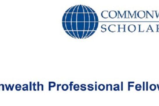 Commonwealth Professional Fellowships 2021/22: (Deadline 9 August 2021)