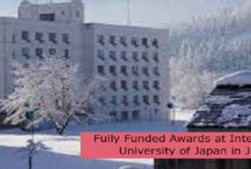 Fully Funded Awards at International University of Japan in Japan: (Deadline 13 September 2021)