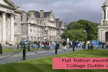 Full Tuition awards at Trinity College Dublin in Ireland: (Deadline 31 July2021)