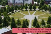 Study at University of Bayreuth in Germany | Full Scholarship: (Deadline 31 August 2021)