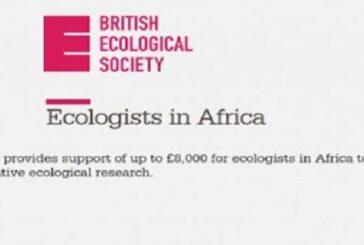 British Ecological Grants 2021 for Ecologists in Africa: (Deadline 10 September 2021)
