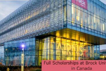 Full Scholarships at Brock University in Canada: (Deadline 31 August 2021)