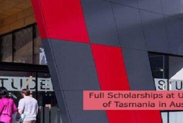 Full Scholarships at University of Tasmania in Australia: (Deadline 31 August 2021)