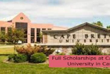 Full Scholarships at Cape Breton University in Canada: (Deadline 15 October 2021)