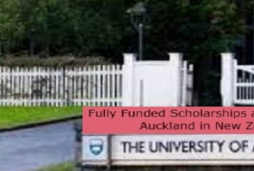 Fully Funded Scholarships at University of Auckland in New Zealand: (Deadline 31 August 2021)