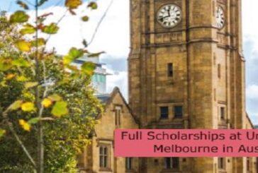 Full Scholarships at University of Melbourne in Australia: (Deadline 31 August 2021)