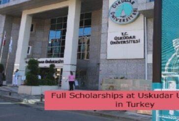 Full Scholarships at Uskudar University in Turkey: (Deadline31 August 2021)