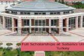 Full Scholarships at Sabancı University in Turkey: (Deadline 13 August 2021)