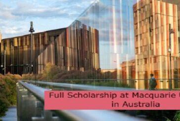 Full Scholarship at Macquarie University in Australia: (Deadline 31 December 2021)