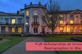 Full Scholarship at University of Roehampton in the UK: (Deadline 30 September 2021)