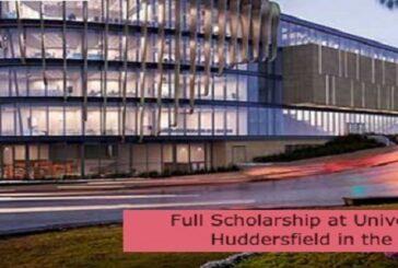 Full Scholarship at University of Huddersfield in the UK: (Deadline 1 October 2021)