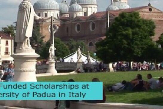 Fully Funded Scholarships in Italy: (Deadline 30 September2021)